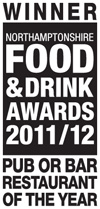 Northamptonshire Food & Drink Awards 2011/12 Winner